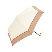 BE-01848 ホワイト [折りたたみ傘 プレーンバイカラー ミニ 婦人 雨晴兼用 UVカット 無地 50cm]