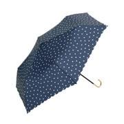 BE-01932 ネイビー [折りたたみ傘 ハート ミニ 婦人 雨晴兼用 UVカット 50cm]