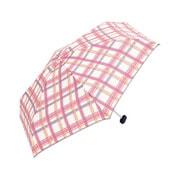 BE-01960 ホワイト [折りたたみ傘 トートバッグ マドラスチェック ミニ 婦人 雨晴兼用 UVカット 50cm]