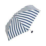 BE-01988 ネイビー [折りたたみ傘 コンパクトポーチ ボールドストライプ ミニ 婦人 雨晴兼用 UVカット 50cm]