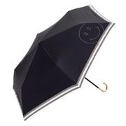 BE-09943 ブラック [折りたたみ傘 PUスマイルヒートカット ミニ 婦人 晴雨兼用 UVカット 無地 47cm]