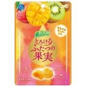 果汁グミとろけるふたつの果実キウイ&マンゴージュレ 52g