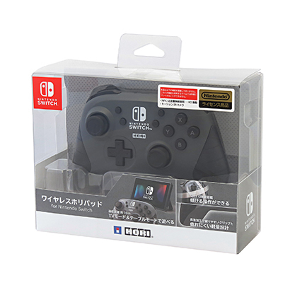 ワイヤレスホリパッド for Nintendo Switch グレー