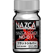 NAZCAカラー NC-011 フラットシルバー [プラモデル用塗料]