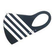 マスク Sサイズ ACCENT BLACK×4WHITE LOOKA DESIGN MASK 洗えるマスク 1枚入 C99D2-A048-S09T