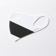 マスク Mサイズ ACCENT WHITE×1BLACK LOOKA DESIGN MASK 洗えるマスク 1枚入 C99D2-A048-M04T