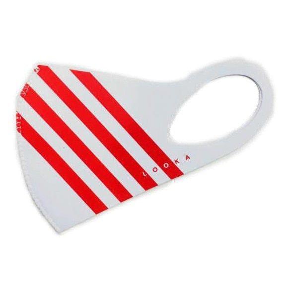 マスク Mサイズ ACCENT WHITE×4RED LOOKA DESIGN MASK 洗えるマスク 1枚入 C99D2-A048-M10T