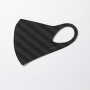マスク Mサイズ BLACK×GRAY STRIPE LOOKA DESIGN MASK 洗えるマスク 1枚入 C99D1-A048-M04T