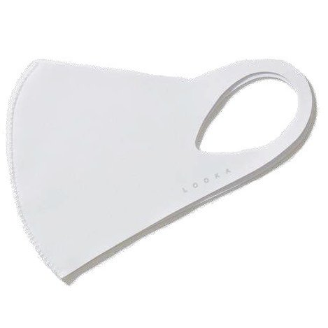 マスク Mサイズ WHITE LOOKA DESIGN MASK 洗えるマスク 1枚入 C99D1-A048-M02T