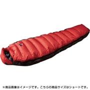 オーロラライト 600DX N16DRE01 RED (レッド) ショート [アウトドア ダウンシュラフ]