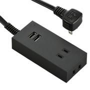 HS-TU225M-K [USBポート付安全タップ 2個口 2.5m 黒]