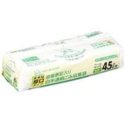 HT45 [ポリ袋 45L 30P 白半透明 容量表記 スマートキューブ]