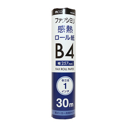 FXK30B1-1 [FAX用感熱ロール紙 B4 1インチ 30m 1本入]