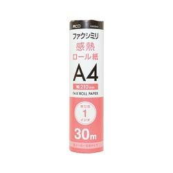 FXK30A1-1 [FAX用感熱ロール紙 A4 1インチ 30m 1本入]