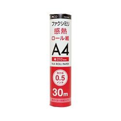 FXK30AH-1 [FAX用感熱ロール紙 A4 0.5インチ 30m 1本入]