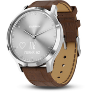 010-01850-7D [スマートウォッチ vivomove HR Silver - Brown Leather]