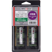 AS-2666D4N-16G-MJ(X2) [PC4-21300 (DDR4-2666)対応 16GB×2枚 260pin DDR4 SDRAM S.O.DIMM 半導体メーカー純正CHIP搭載品]