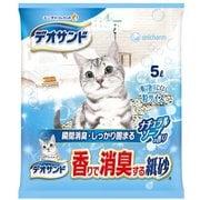デオサンド 香りで消臭する紙砂 ナチュラルソープの香り [猫用トイレ・衛生用品]