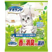 デオサンド 香りで消臭する紙砂 ナチュラルグリーンの香り [猫用トイレ・衛生用品]
