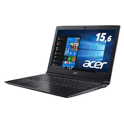 A315-53-N34D/KF [ノートパソコン ヨドバシカメラ限定/intel第8世代 2コアCPU Core i3-8130U/15.6型/メモリ:4GB/HDD:500GB/ドライブなし/Windows 10 Home 64bit/Microsoft Office Home & Business 2019 (個人向け)/オブシディアンブラック]