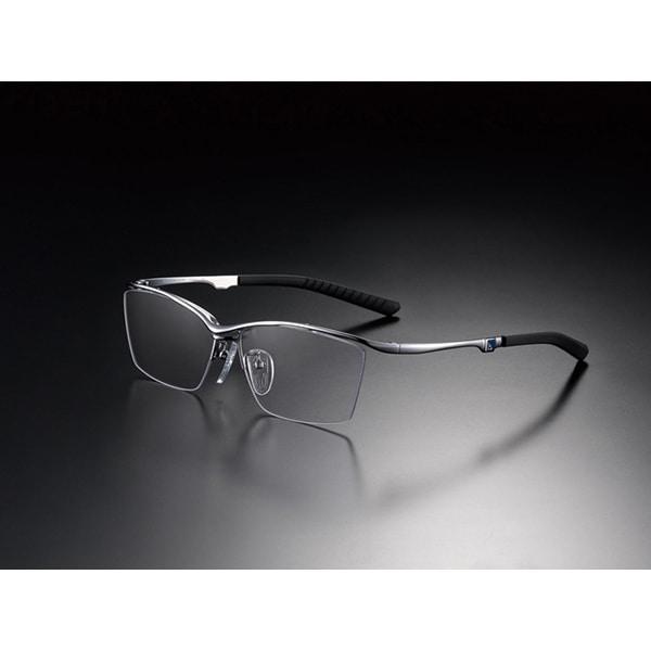 G-SQUARE アイウェア カジュアルモデル ナイロール フレーム:シルバー / レンズ:グレー [ゲーミンググラス]