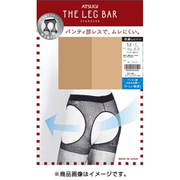 FT10900 ATSUGI THE LEG BAR(アツギ・ザ・レッグ バー) パンティ部レス ストッキング L~LL ブラック [ストッキング]