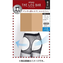 FT10901 ATSUGI THE LEG BAR(アツギ・ザ・レッグ バー) パンティ部レス ストッキング 引き締め 着圧タイプ M~L ベージュ [ストッキング]