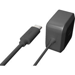 RK-UPD18K [USB-PD対応 USB Type-C ACアダプター 1.2mケーブル直結型 ブラック]