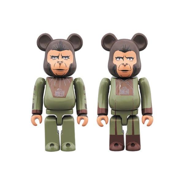 BE@RBRICK PLANET OF THE APES Cornelius & Zira 2PACK [塗装済可動フィギュア 全高約70mm]