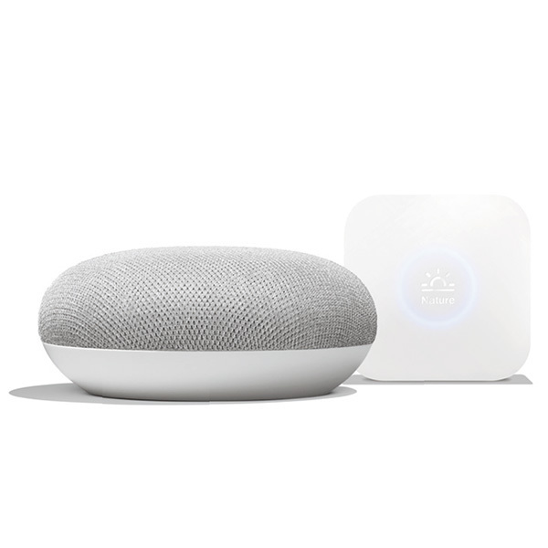 Google Home Mini チョーク & Nature Remo Mini バンドルパッケージ [スマートスピーカー+スマートリモコン]