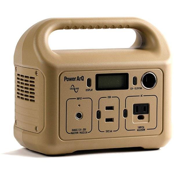 ポータブル電源 PowerArQ mini パワーアーク 311Wh 86,400mAh 3.6V 正弦波 100V 日本仕様 コヨーテタン