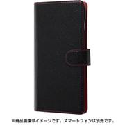RT-GS10ELC1/BR [Galaxy S10 手帳型ケース シンプル マグネット /ブラック/レッド]