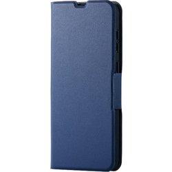 PM-GSA30PLFUNV [Galaxy A30 ソフトレザーケース 薄型 磁石付 ネイビー]