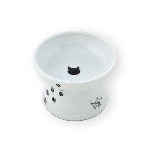 ハッピーダイニング 脚付フードボウル 猫柄 シリコン付き [猫用餌やり・水やり用品]