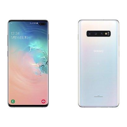 Galaxy S10+ SCV42 プリズムホワイト [スマートフォン]