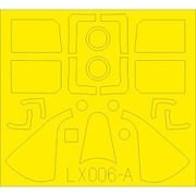 EDULX006 F6F-5 Tフェース 両面塗装マスクシール エアフィックス用 [1/24スケール 樹脂製塗装用マスキングシール]