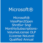 Visio Online Plan 2 Open Shrd Svr Sngl Subscription VL OLP 1License NoLevel [ライセンスソフト]