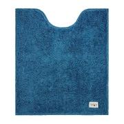 カラープレミアム ロングトイレマット 80×70 ターコイズブルー