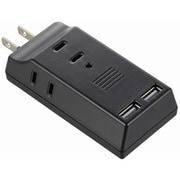 HS-TM3U2K3-K [USB電源タップ USB2個口+AC3個口 ブラック]