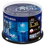 VHR21HDP50SD1 [DVD-R DL(Video) 215分 2-8倍速対応 スピンドルケース50P インクジェットプリンタ対応(ホワイト) ワイド印刷エリア対応]