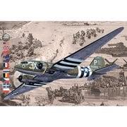 014T300 米英C-47/DC3ダコタ現存機D-DAY戦勝記念モデル・限定モデル [1/144スケール プラモデル]