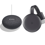 Google Home Mini チャコール(GA00216-JP)+Chromecast バンドルパッケージ [スマートスピーカー+ストリーミングデバイス]