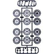 193533 ホイールシリーズ No.101 1/24 ワイヤーメッシュF/Rシルバーナロー 17インチ [1/24スケール プラモデル]
