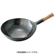 鉄打出木柄片手中華鍋 39cm [中華鍋]