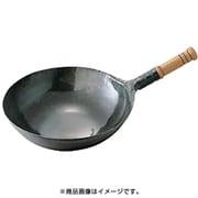 鉄打出木柄片手中華鍋 24cm [中華鍋]