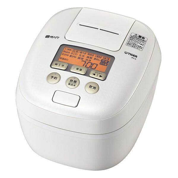 JPC-H100 WS [圧力IH炊飯ジャー 炊きたて 5.5合炊き 360°デザイン 熱封土鍋コーディング シルキーホワイト]