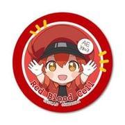 ばんざい缶バッチ はたらく細胞 赤血球 [キャラクターグッズ]