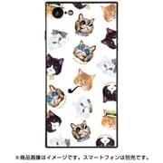 BJ-0022-IP78-WHIT [スクエア型 ガラスケース iPhone 8/7 gangster cat White]