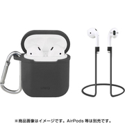 UNIQ-AIRPOD-VENGRY [Charcoal grey Vencer Airpods Hangcase with sports earloop]