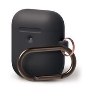 EL_A2WCSSCHW_BK [elago AIRPODS HANG CASE for AirPods 2nd Generation Wireless Charging Case for AirPods 2nd Wireless (Black)]